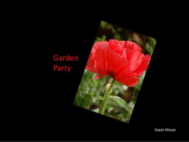 GardenPartyGayle Mavor
