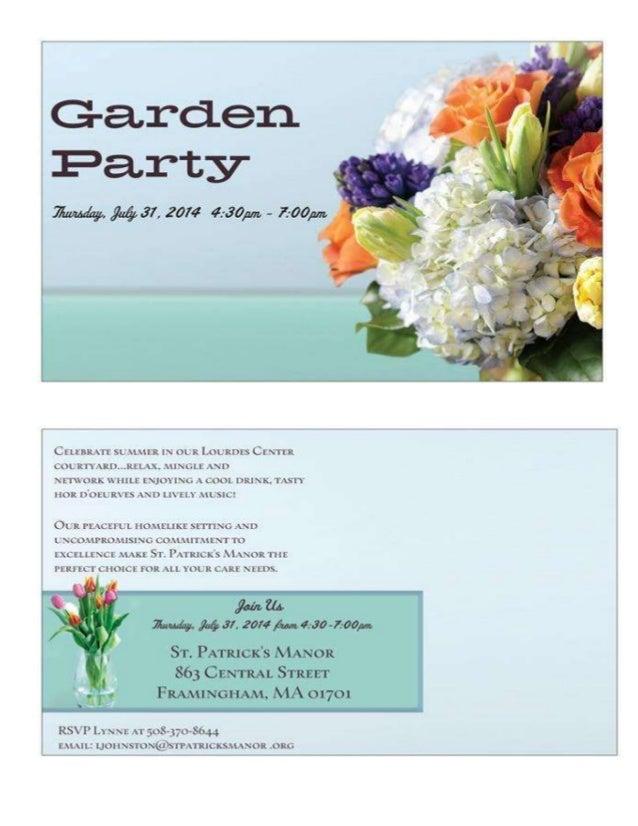 Garden party postcard