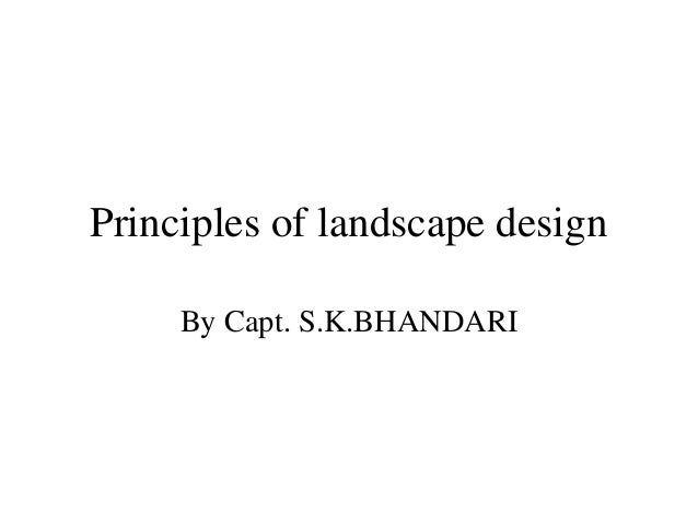 Garden principals of landscapimg