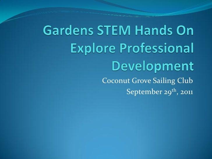 Coconut Grove Sailing Club      September 29th, 2011