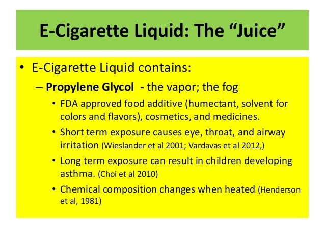 Negative effects of using e cigarettes