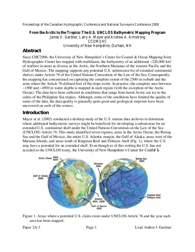 Proceedings of the Canadian Hydrographic Conference and National Surveyors Conference 2008 Paper 2A-3 Page 1 Lead Author J...