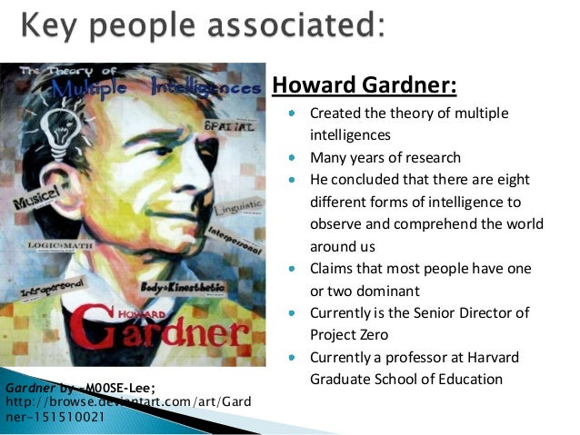 an overview of howard gardners theory of multiple intelligence Proposed by howard gardner in 1983, the theory of multiple intelligences has revolutionized how we understand intelligence learn more about the research behind his theory.