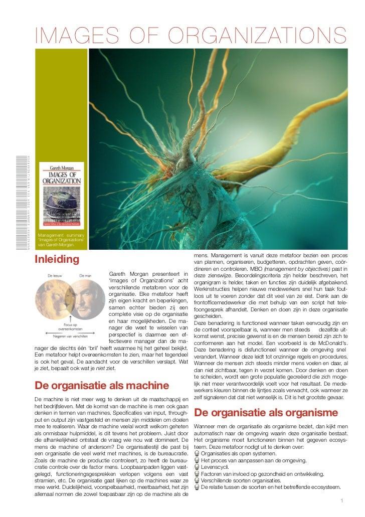 IMAGES OF ORGANIZATIONSManagement summary door eva van Wijngaarden                                               Managemen...