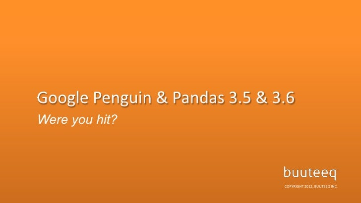 Google Penguin & Panda - Hotel Marketing & SEO by buuteeq