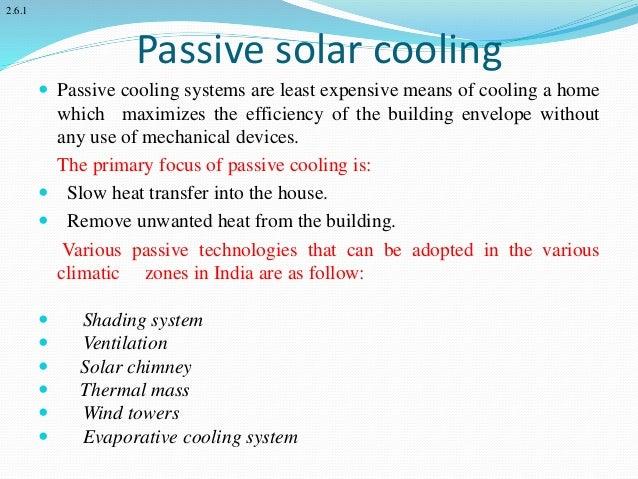 Solar Cooling Techniques Passive Solar Cooling