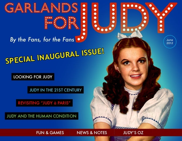 Garlands for Judy - Inaugural Issue