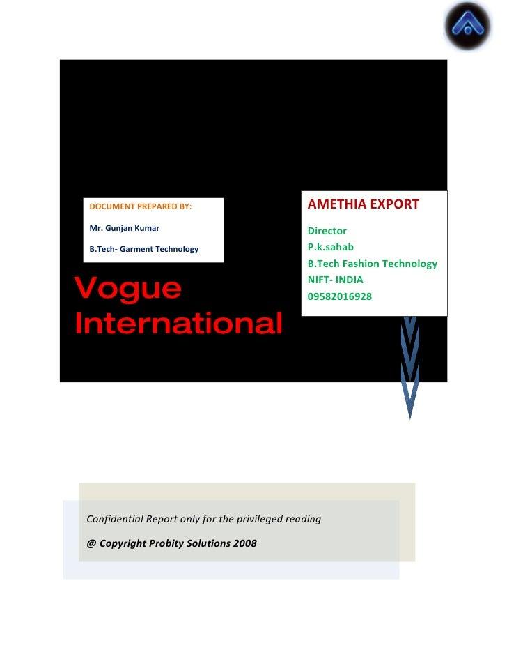 Pre Sales Report ERP AMETHIA EXPORT  DOCUMENT PREPARED BY:   Mr. Gunjan Kumar                              Director  packa...