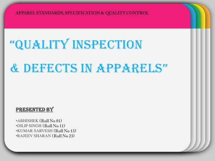 """WINTER""""quality inspection             Template& Defects in apparels""""PRESENTED BY•ABHISHEK (        )•DILIP SINGH (        ..."""