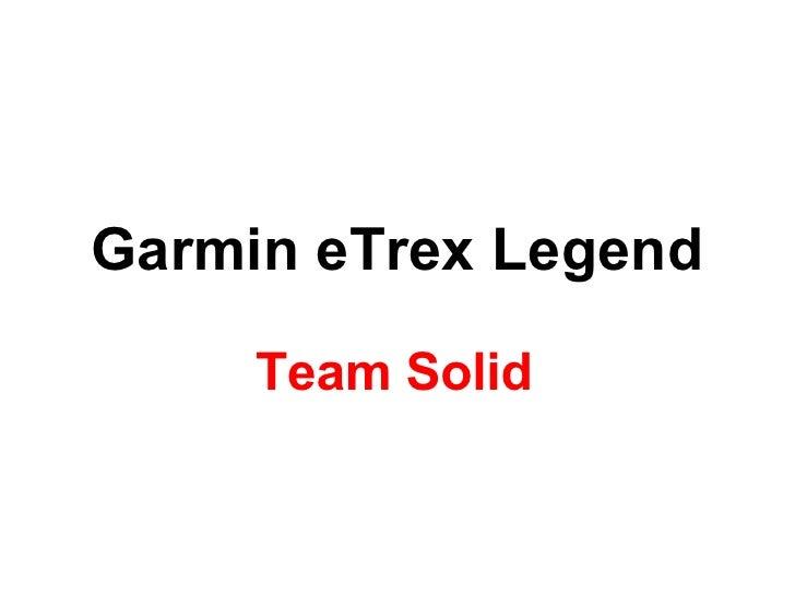 Garmin eTrex Legend Team Solid