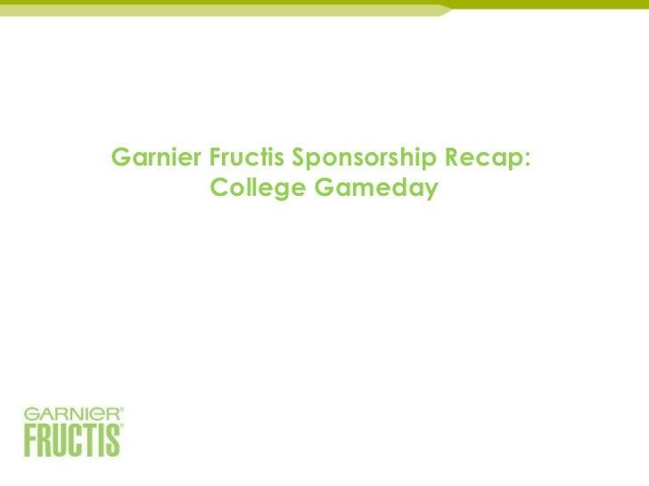 Garnier Fructis Sponsorship Recap:        College Gameday