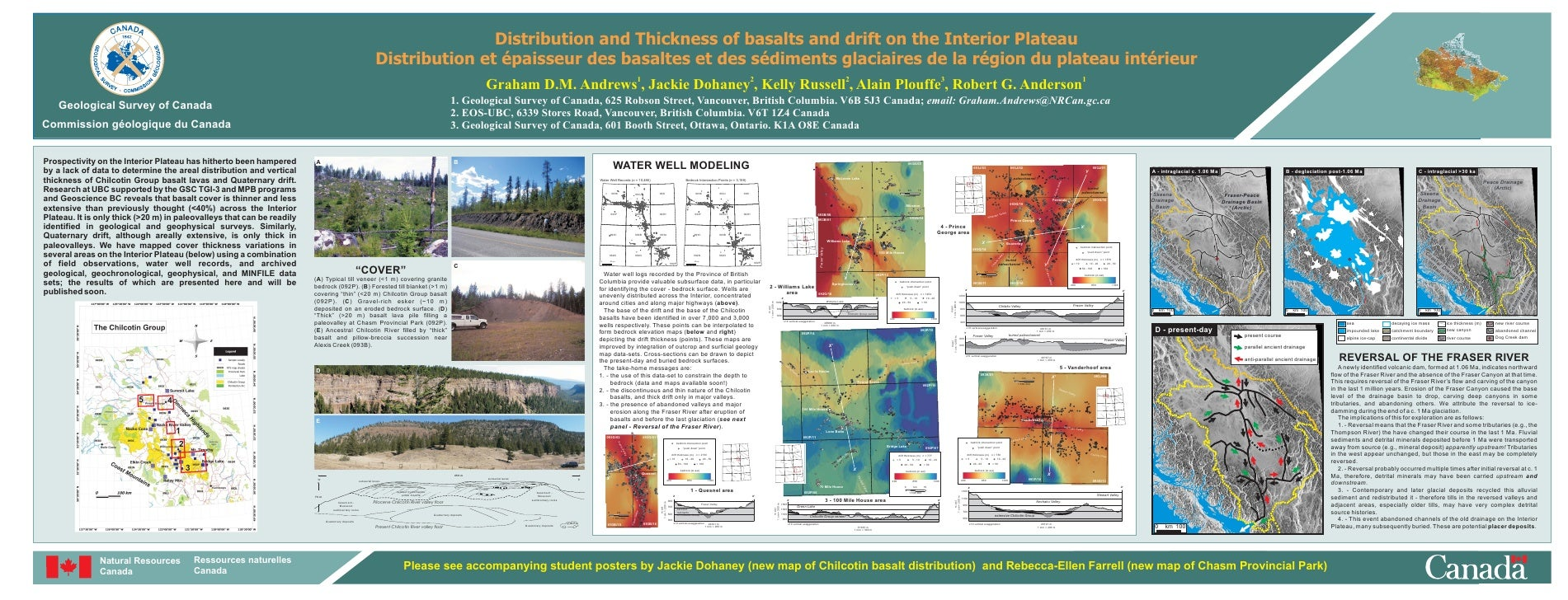 Distribution and Thickness of basalts and drift on the Interior Plateau                                                   ...