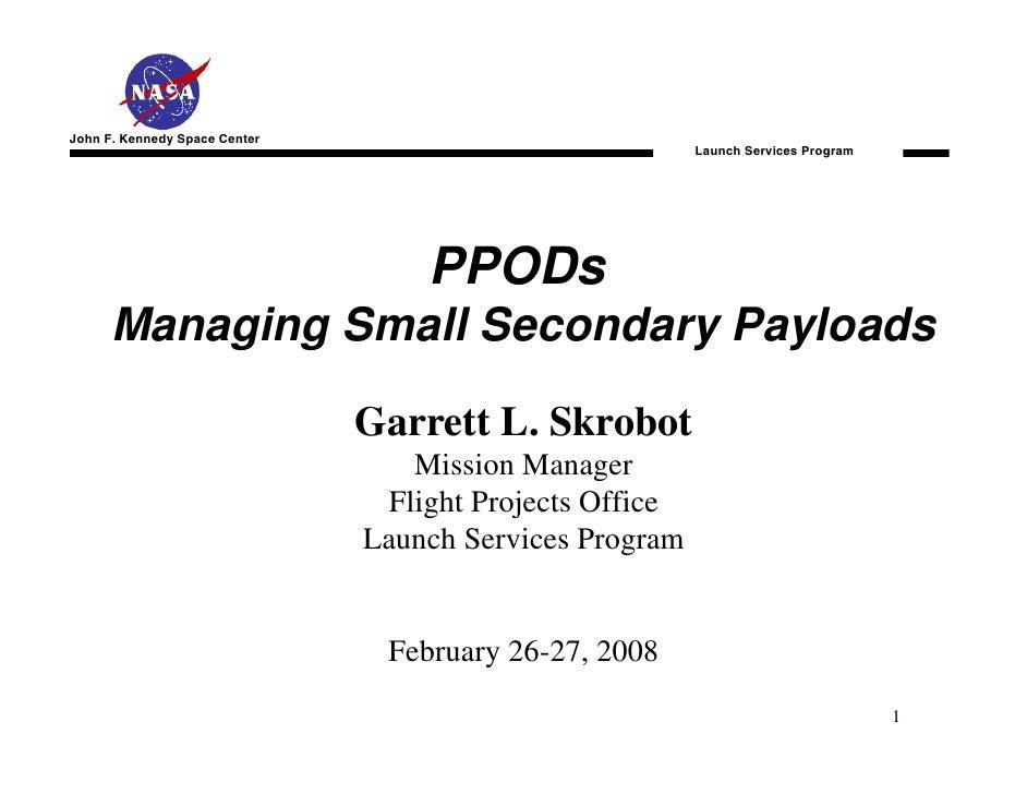 John F. Kennedy Space Center                                                         Launch Services Program              ...