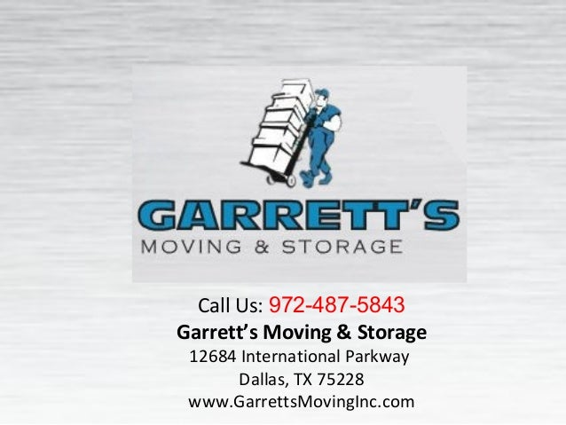 Moving Company Reviews | Dallas Movers | Garrett's Moving Inc