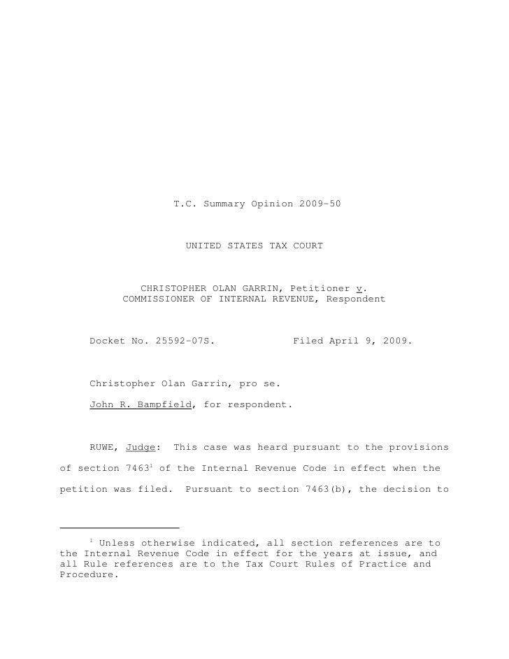 Garrin v. commissioner