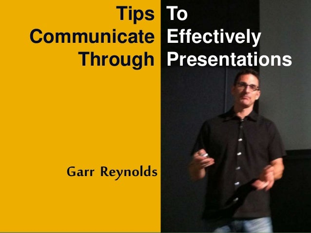 Garr reynolds presentation