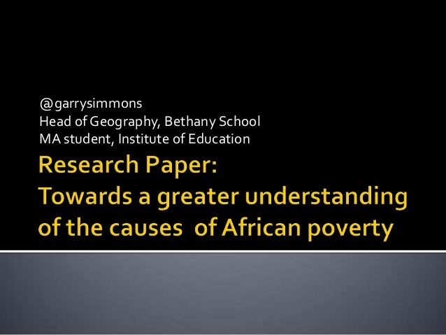 @garrysimmonsHead of Geography, Bethany SchoolMA student, Institute of Education
