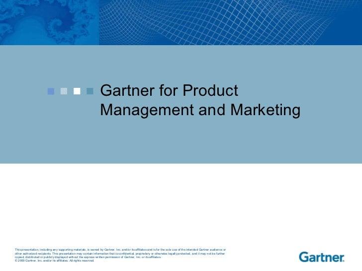 Gartner for Product Management and Marketing