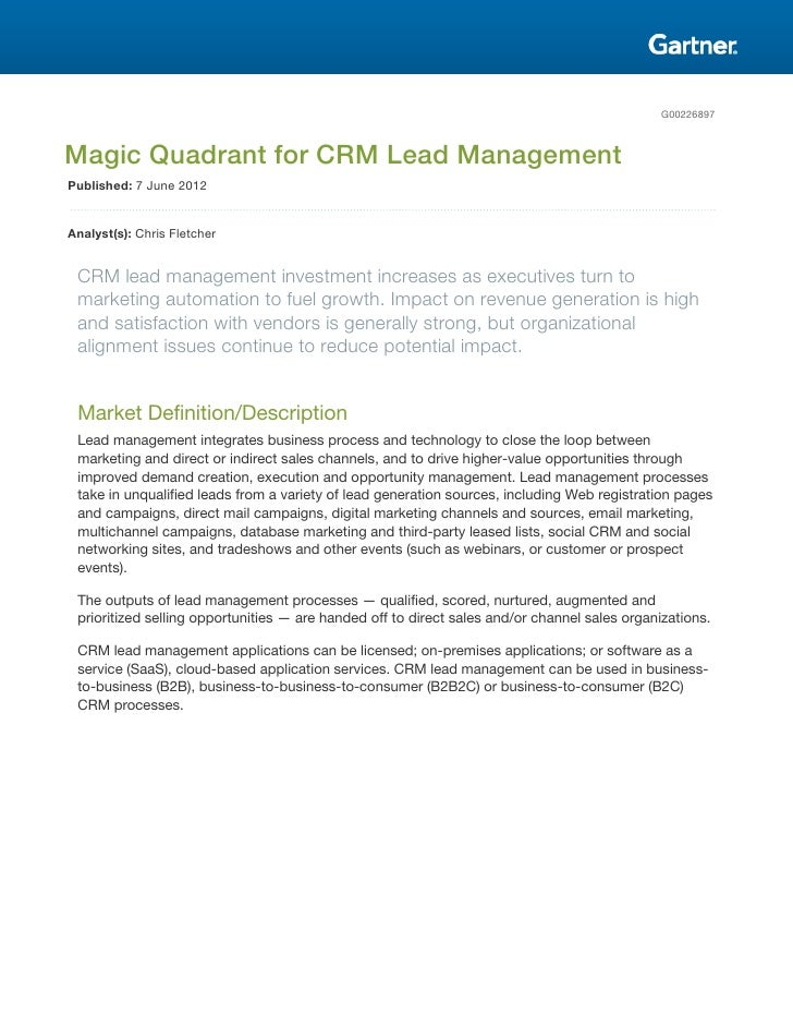 "Eloqua earns the ""Leader of the Leaders"" spot in Gartner Magic Quadrant"