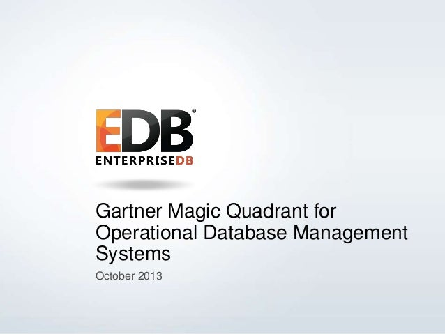 Gartner Magic Quadrant for Operational Database Management Systems