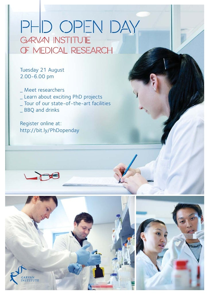 Tuesday 21 August2.00-6.00 pm_ Meet researchers_ Learn about exciting PhD projects_ Tour of our state-of-the-art facilitie...