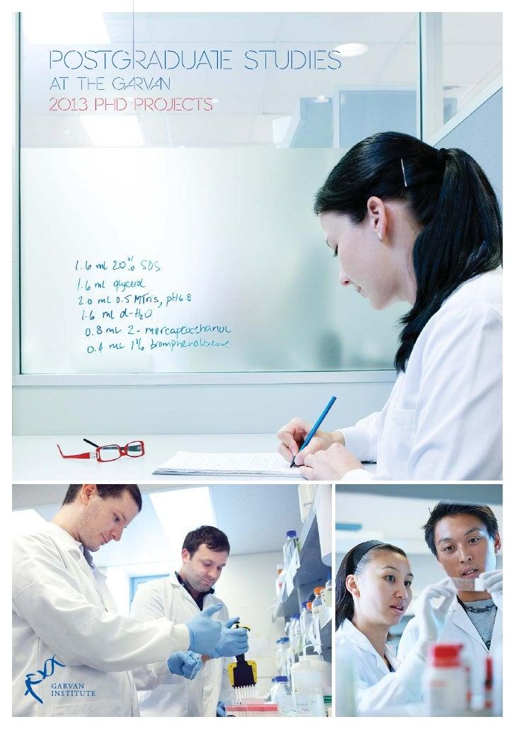Garvan PhD_projects_2013