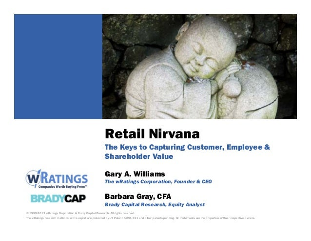 Retail Nirvana The Keys to Capturing Customer, Employee & Shareholder Value
