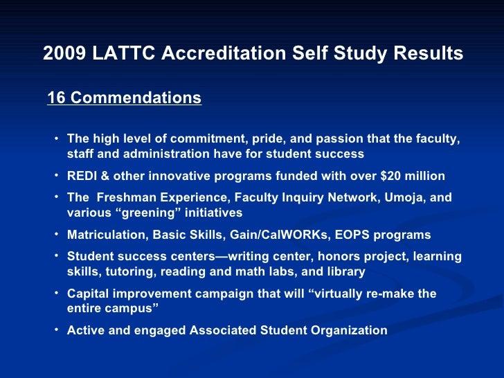 Accreditation Self Study Results