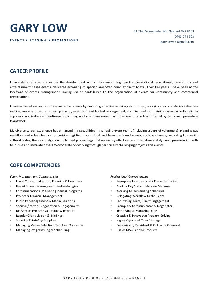 sample resume for marketing manager