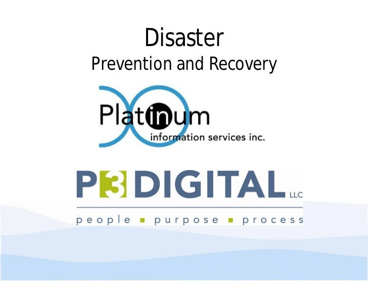 DisasterPrevention and Recovery