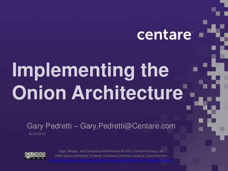 Onion Architecture with S#arp