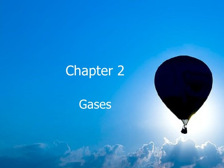 Chapter 2 Gases