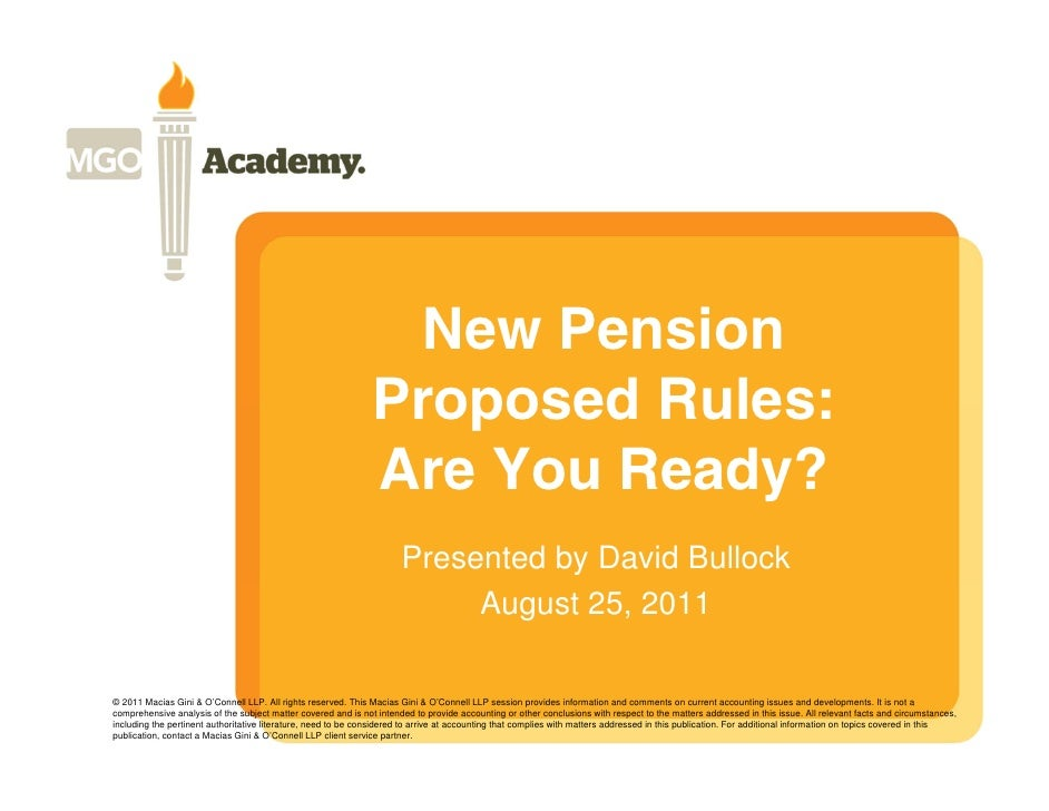 New Pension Rules