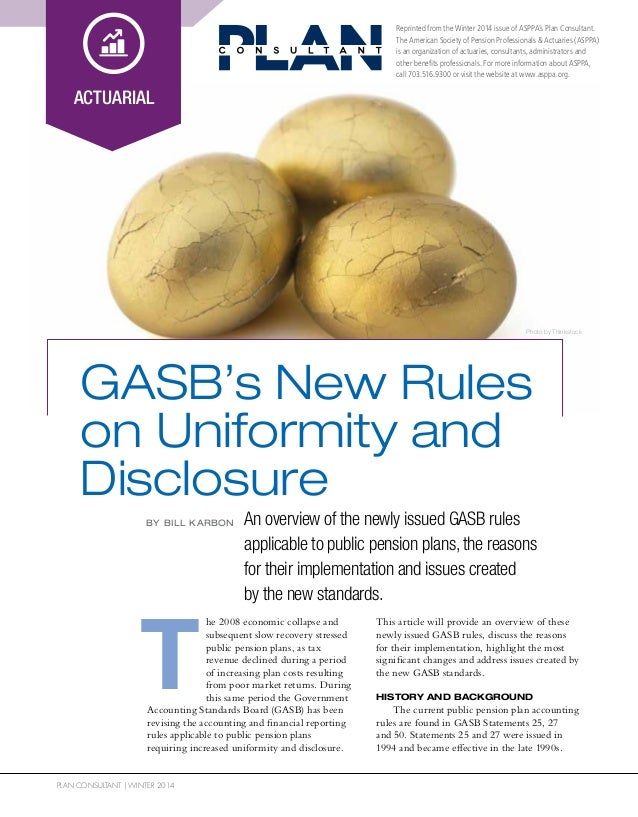 GASB's New Rules on Uniformity and Disclosure