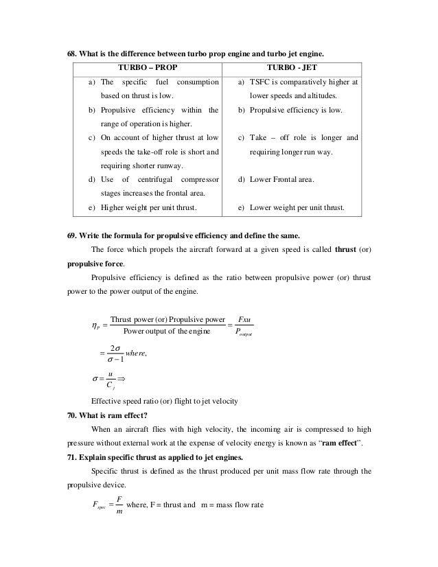 Propulsive Efficiency Equation b Propulsive Efficiency