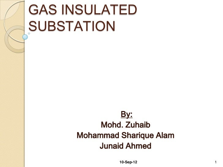 GAS INSULATEDSUBSTATION              By:          Mohd. Zuhaib     Mohammad Sharique Alam         Junaid Ahmed            ...