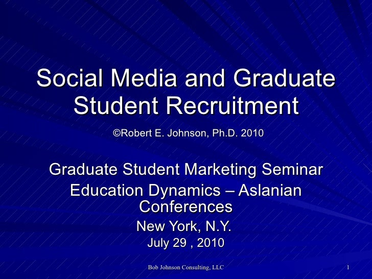 Social Media and Graduate Student Recruitment