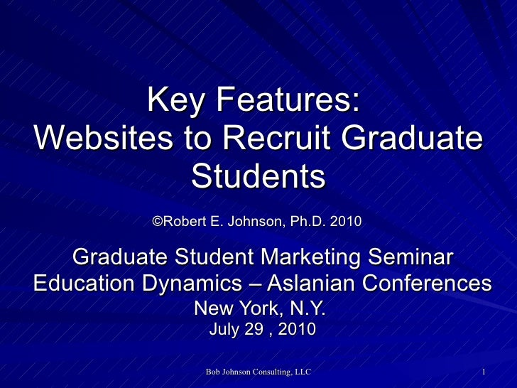 Key Features: Websites to Recruit Graduate Students