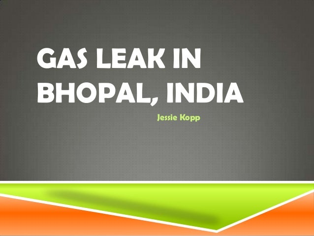 Gas leak in bhopal, india