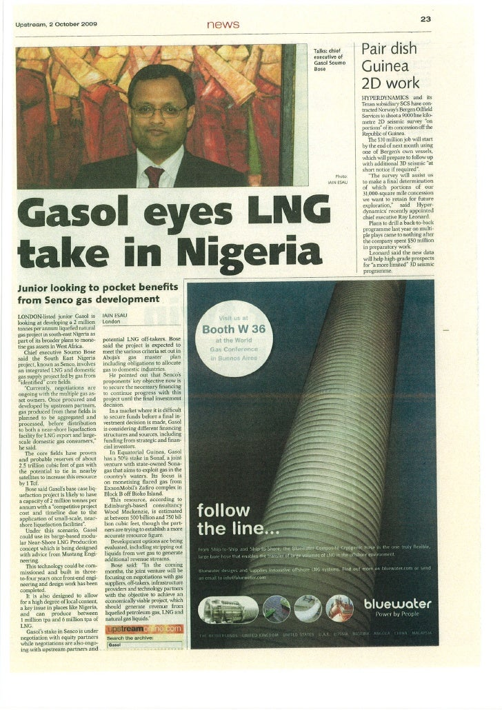 Gasol\'s LNG developments - Upstream Article
