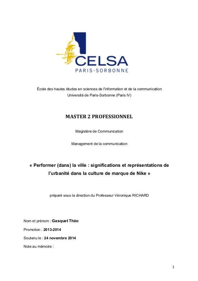 1  École des hautes études en sciences de l'information et de la communication  Université de Paris-Sorbonne (Paris IV)  M...