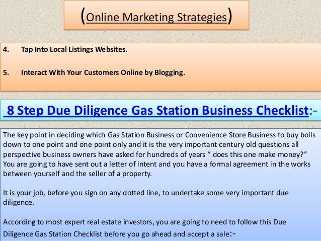 Free Gas Station Business Plan