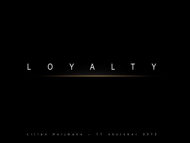 Gastcollege lilian heijmans - loyalty marketing