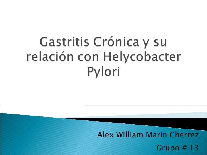 Alex William Marín Cherrez Grupo # 13