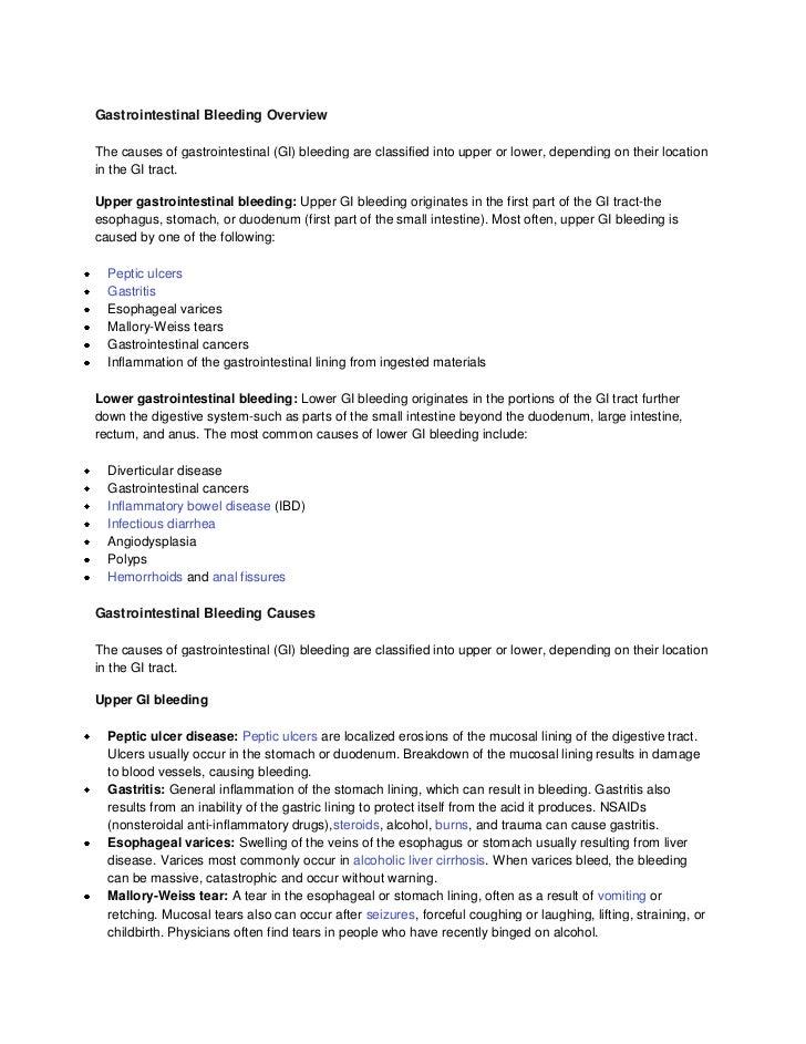 Gastrointestinal bleeding overview