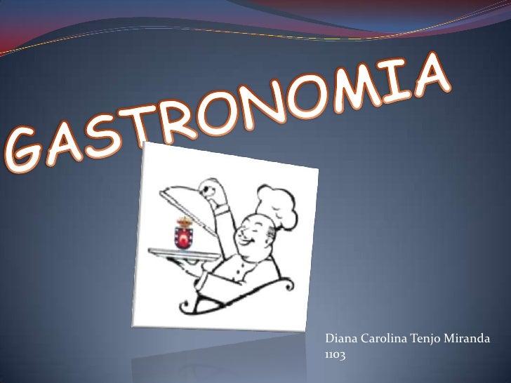 GASTRONOMIA<br />Diana Carolina Tenjo Miranda<br />1103<br />