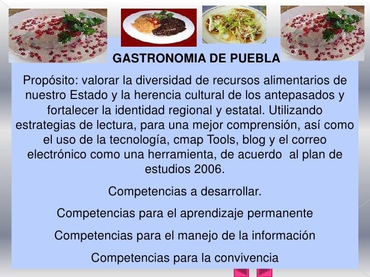 Gastronomia puebla