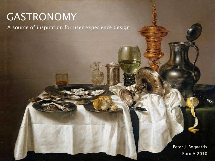 Gastronomy: A source of inspiration for user experience design