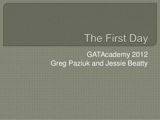 """GATA Winter Academy: """"The First Day"""""""