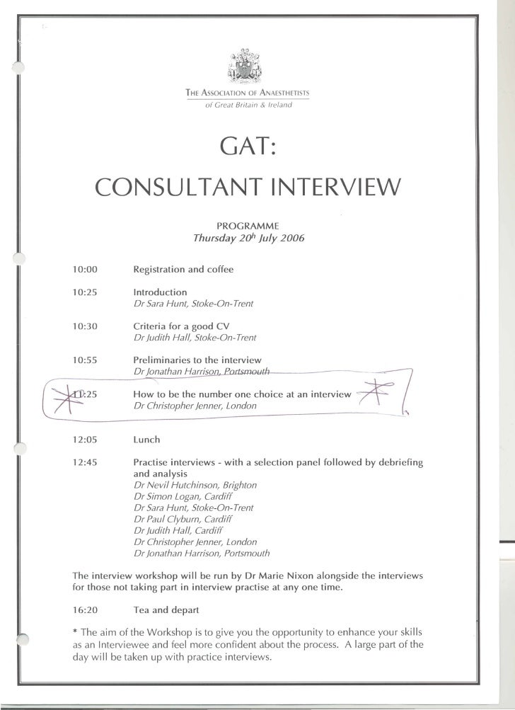 Gat Consultant Interview 20 July 06